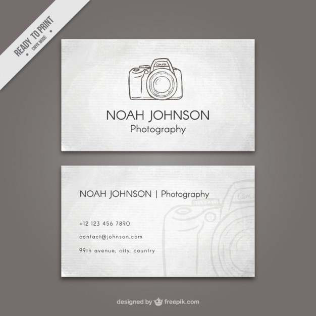 Vintage business card with sketchy camera vector free download vintage business card with sketchy camera free vector reheart Images