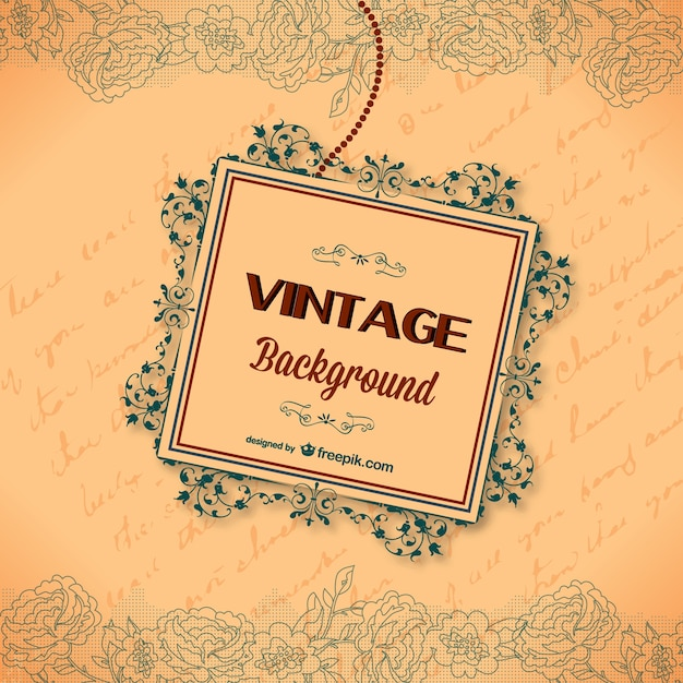 Vintage calligraphic greeting card Vector | Free Download