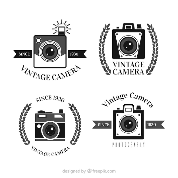 Vintage camera logo collection