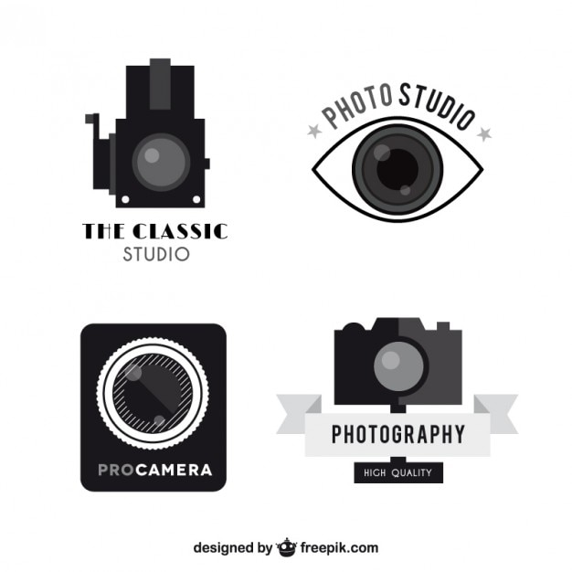 vintage camera logos pack vector premium download