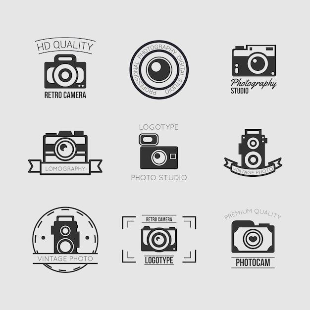 Vintage camera set Free Vector