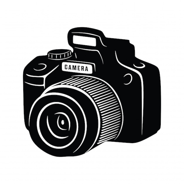 Vintage camera shoot photography Premium Vector