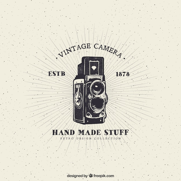 Vintage camera Free Vector