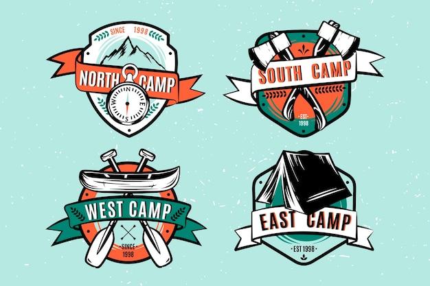 Vintage camping & adventures badges Free Vector