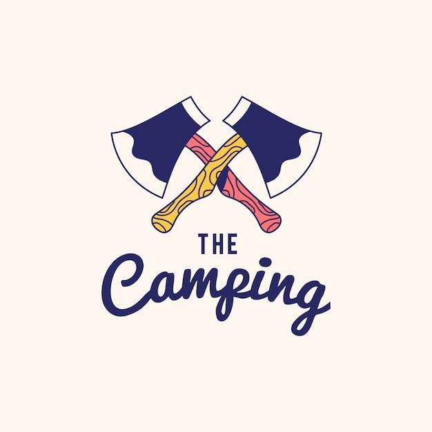 Vintage the camping logo text design vector Vector | Free
