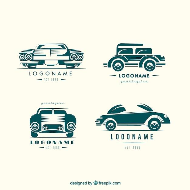Vintage Car Logo Collection Vector Free Download