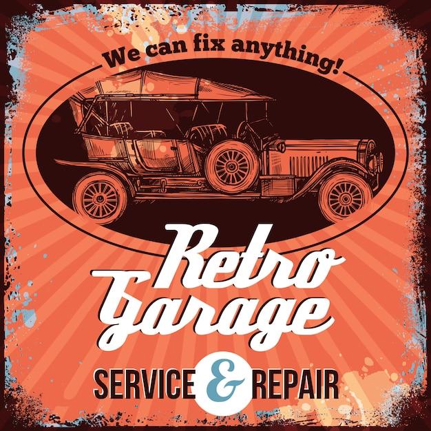Vintage car service Free Vector
