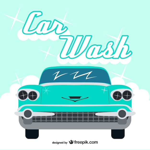 car wash poster template free - vintage car wash vector vector free download