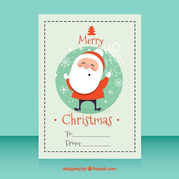 Vintage card with nice santa claus