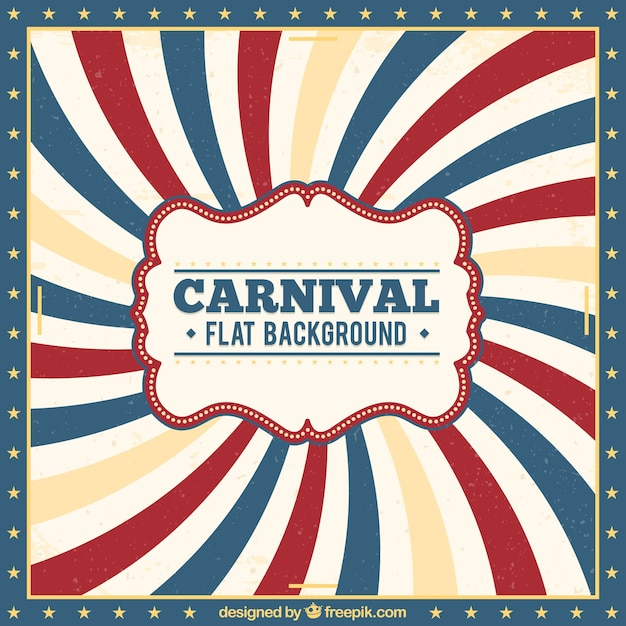 Vintage carnival background Free Vector