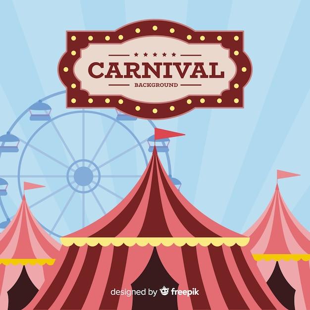 Vintage carnival background Free Vector