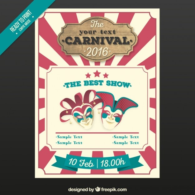 vintage carnival poster vector free download