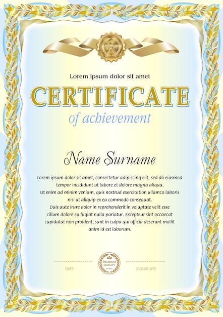 Vintage Certificate Blank Template Vector Premium Download