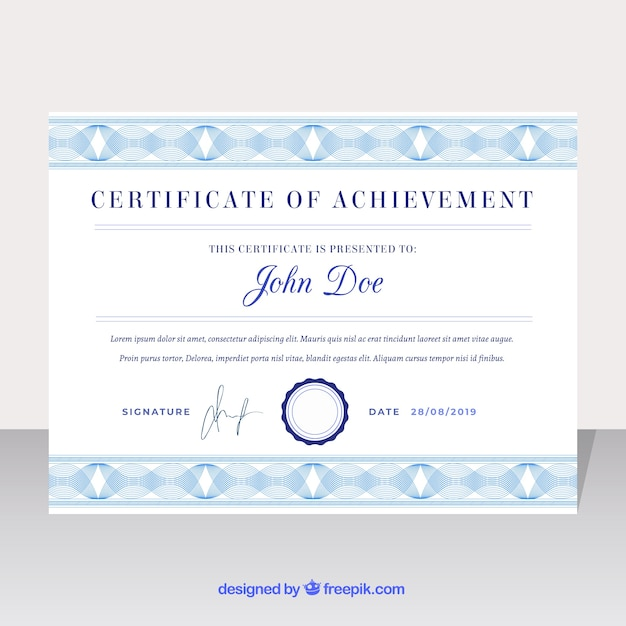 Vintage Certificate Border Template Vector Free Download