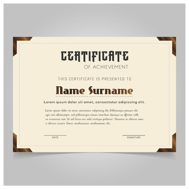 Vintage certificate template vector free download vintage certificate template free vector yadclub Choice Image