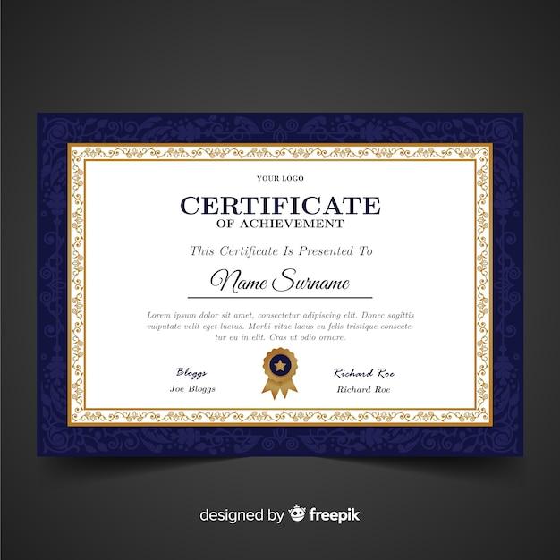 Vintage certificate template Free Vector