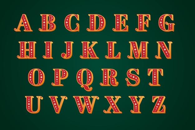 Vintage christmas alphabet Free Vector