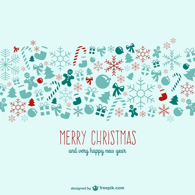 Vintage christmas background Free Vector