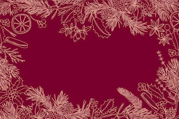 Старинный рождественский фон Бесплатные векторы