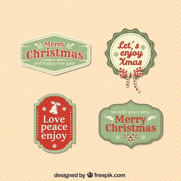 Vintage christmas badges