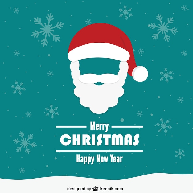 vintage christmas card with santa claus face free vector - Santa Claus Christmas Cards