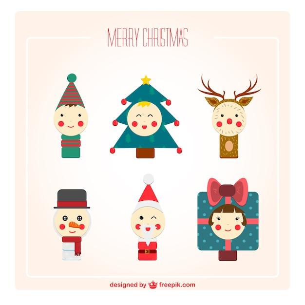 Vintage Christmas cartoon characters