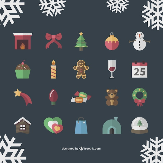 Vintage Christmas icons collection