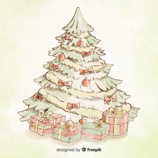 foto de Vintage christmas tree background | Free Vector