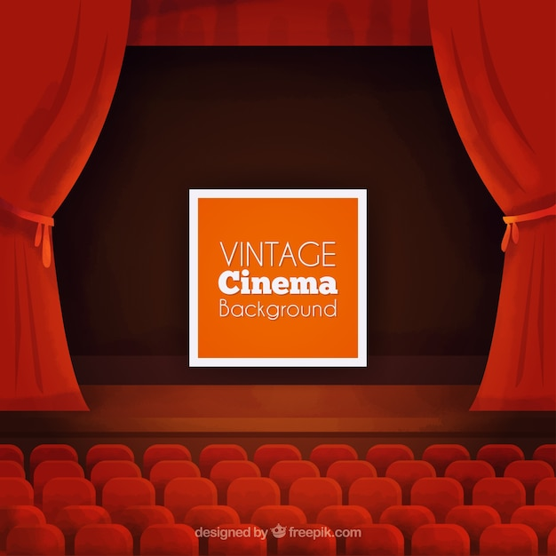 Vintage Cinema Background Premium Vector