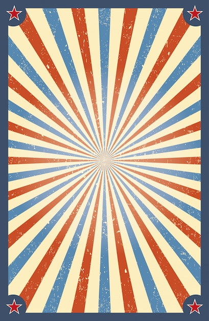 Vintage circus background Premium Vector