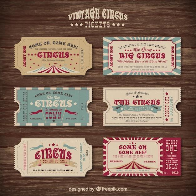 Vintage Circus Ticket 86