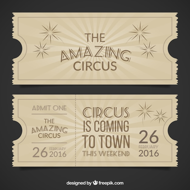 Vintage Circus Ticket 27