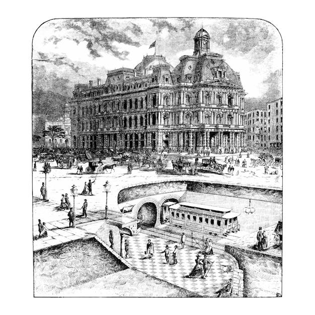 Vintage civilization illustration Free Vector