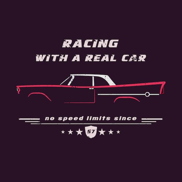 Vintage classic american car. Premium Vector
