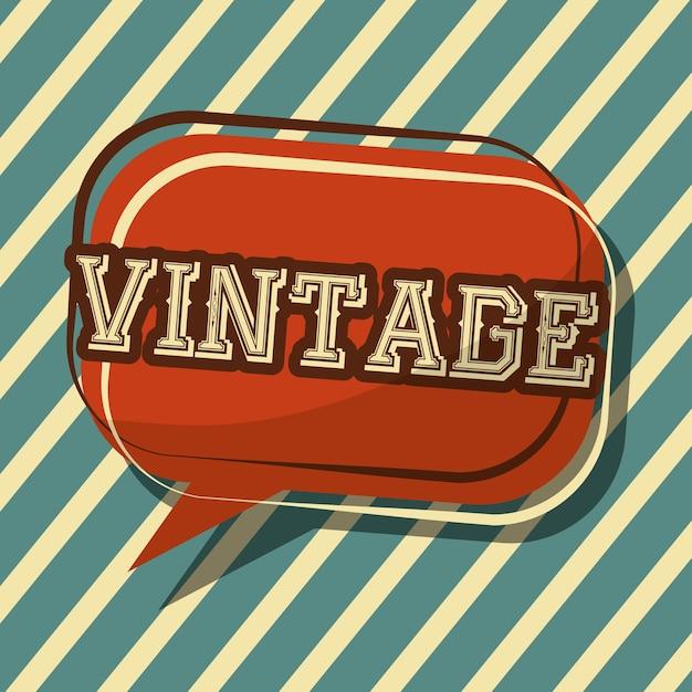vintage classic speech bubble badge stripes background  Premium Vector