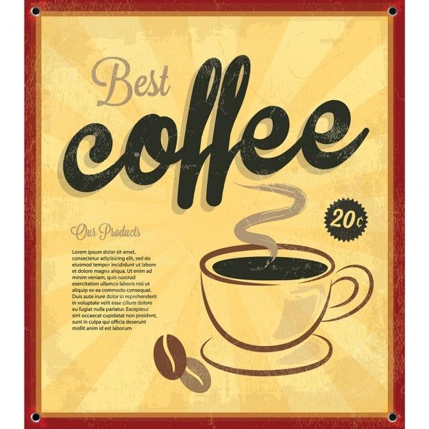 Vintage coffee background Free Vector