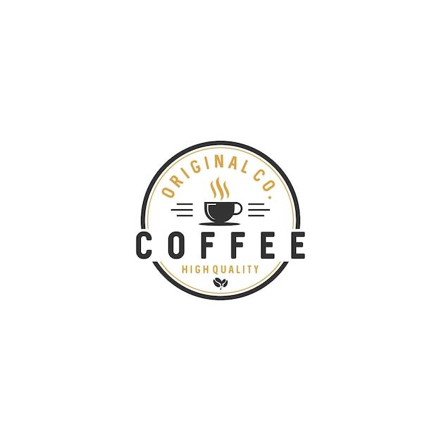 Vintage coffee logo badgesストックベクトル Premiumベクター