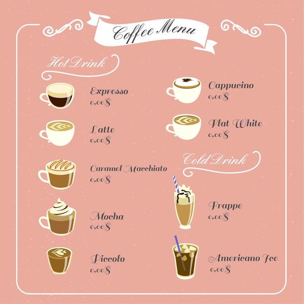 Vintage Coffee Menu Vector Premium Download