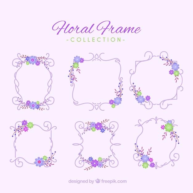 Vintage collection of floral frames