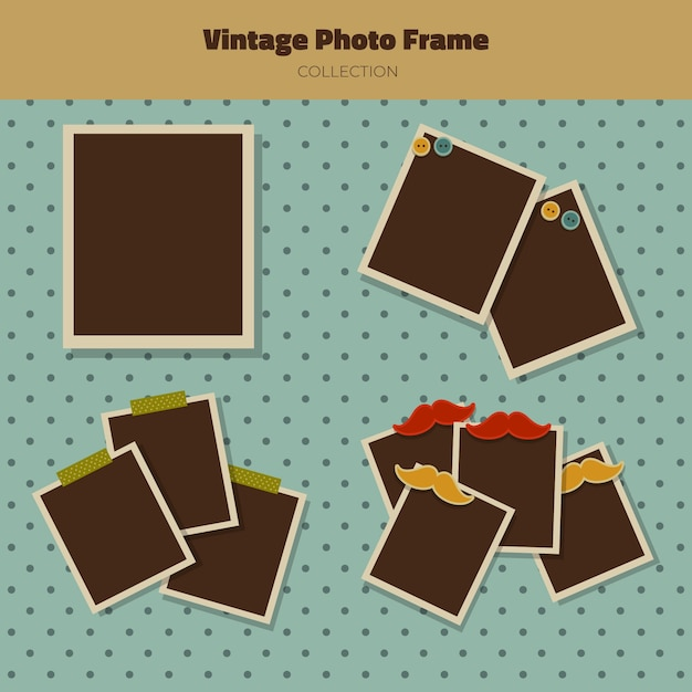 Vintage collection of photography frames