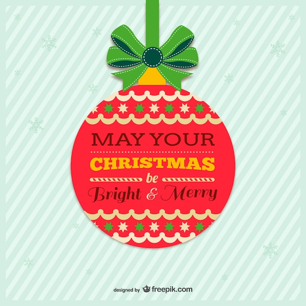 Vintage colorful Christmas card