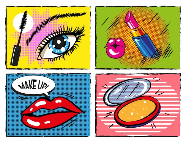 Vintage Comic Pop Art Makeup