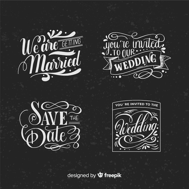 Vintage concept for save the date collection Free Vector