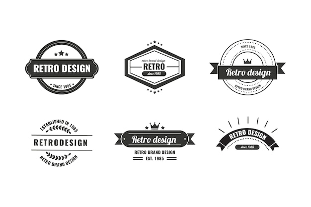 Vintage corporate identity logo template Free Vector
