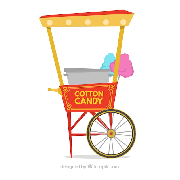 Vintage cotton candy cart pack