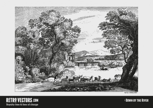 Vintage Country Landscape