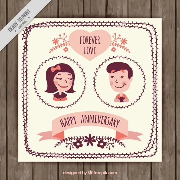 Vintage couple anniversary invitation vector free download vintage couple anniversary invitation free vector stopboris Choice Image