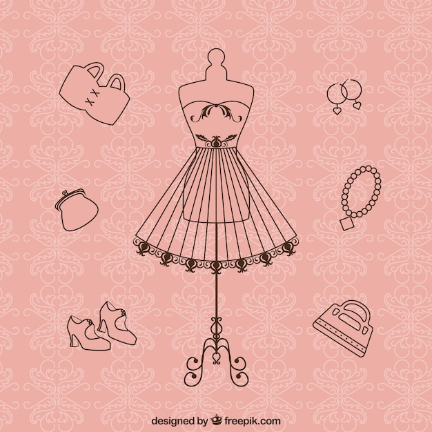 Vintage couture Free Vector