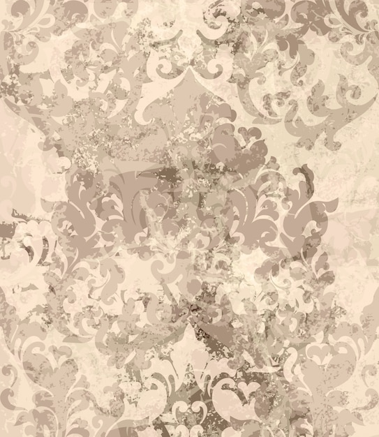 Vintage damask ornament background Premium Vector