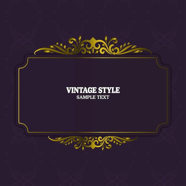 ヴィンテージ装飾要素とフレーム Premiumベクター
